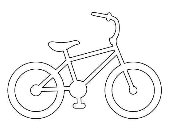 Bike pattern. Use the printable outline for crafts