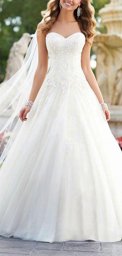 Best 25 Strapless wedding dresses ideas only on Pinterest