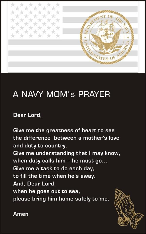 Navy Mom Prayer Proud Navy Mom Pinterest Navy Mom
