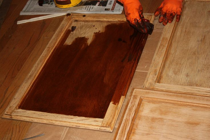 sanding and restaining kitchen cabinets backsplash stick on tiles darker | sanding, staining ...