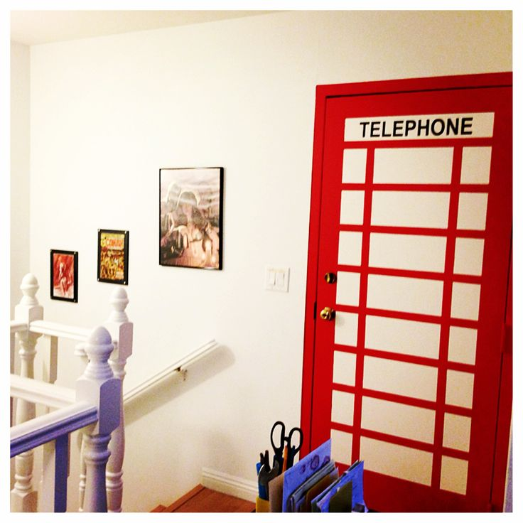 Comic room superman room spiderman room phonebooth door