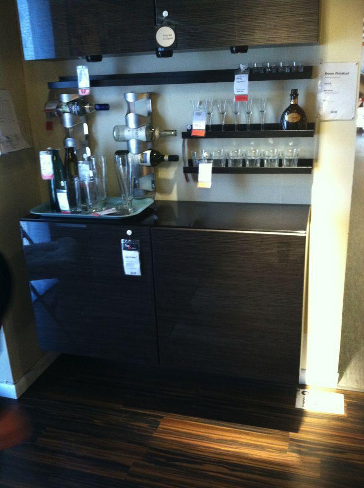 Mini Bar idea from Ikea  BAR Y TRAGOS  Pinterest  Ideas