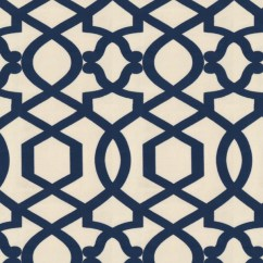 White Slipcovered Chair Foldable Bed Sultan Pepper - Sapphire: A Warm Beige Background With Royal Blue Velvet Geometric Lattice ...
