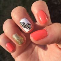 Feather nail design- peacock feather | MyCreations ...