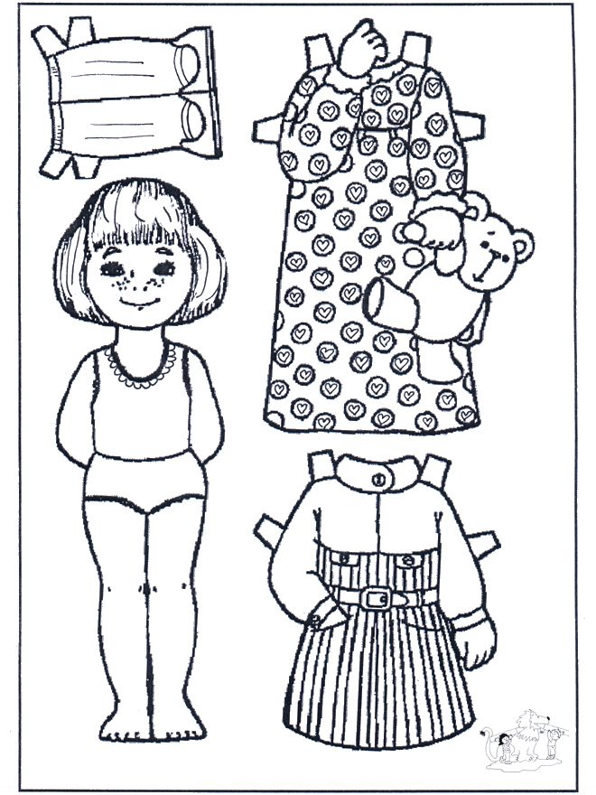 97 best images about Color Your Own Paperdolls on Pinterest