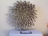 toilet paper roll flower - Google Search | Wall decor ...