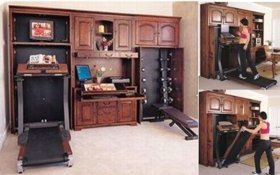 Hide away your exercise equipment so nobody knows how fit