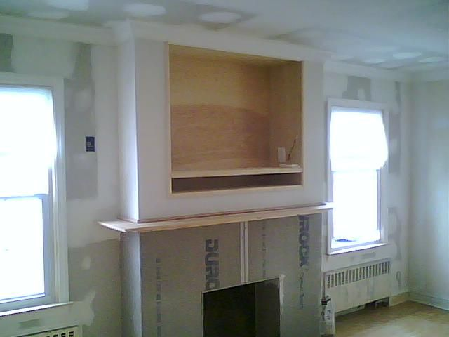 tv wall mount designs for small living room decorated pictures gas fireplaces with above | built-in entertainment ...