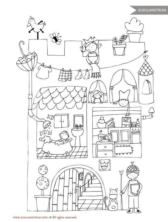 Best 25+ Castillos para colorear ideas on Pinterest