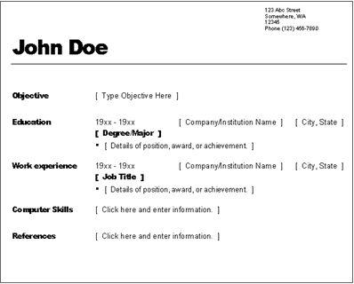 Simple Resumes Samples Best 25 Simple Resume Examples Ideas On