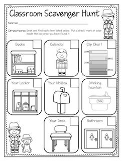 17 Best ideas about Classroom Scavenger Hunt on Pinterest