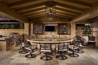 outdoor kitchens | Outdoor kitchen bar chairs countertop ...