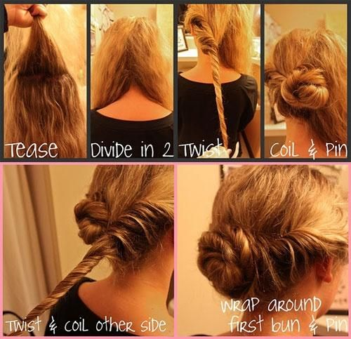 542 Best Images About Easy And Fast Hairstyles You Can Do! On