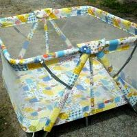 Playpen. | vintage baby items | Pinterest | Blue and Playpen