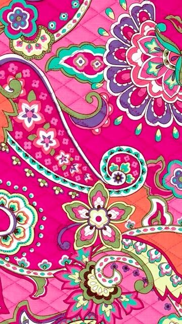 Cute Bow Wallpaper For Iphone Pink Swirls Vera Bradley Everyday Wallpaper Pinterest