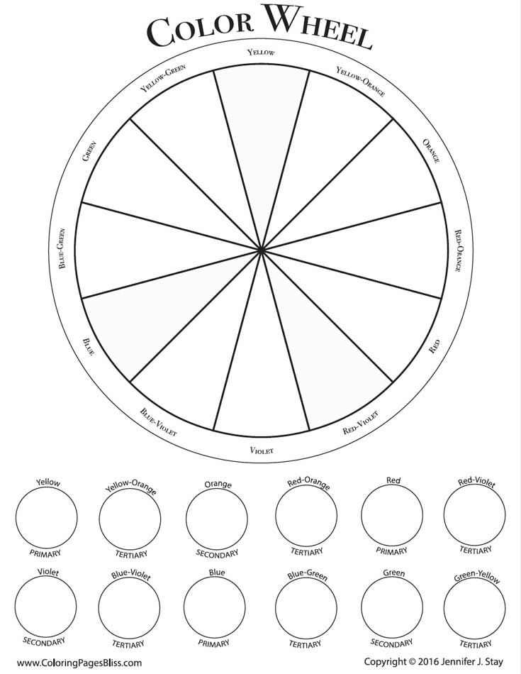 25+ bästa idéerna om Color wheel worksheet på Pinterest