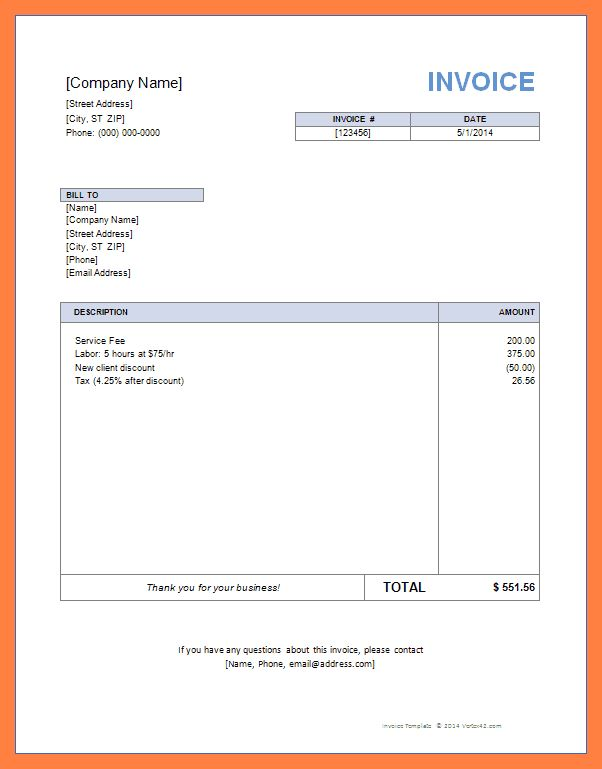 17 Best Ideas About Invoice Sample On Pinterest