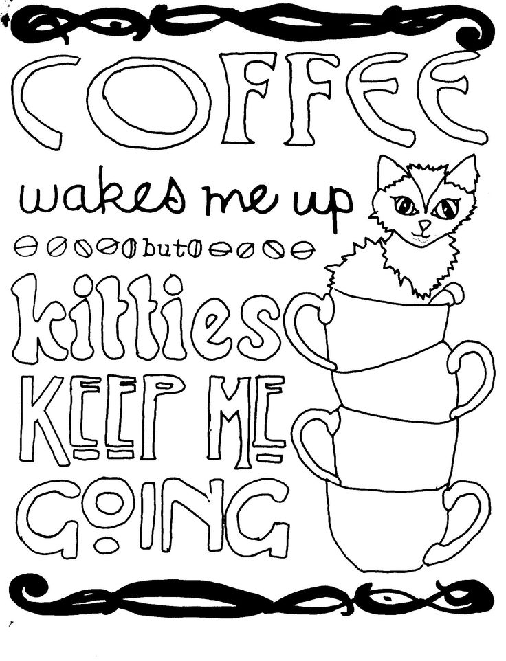 1000+ images about Coffee + Tea Coloring Pages for Adults