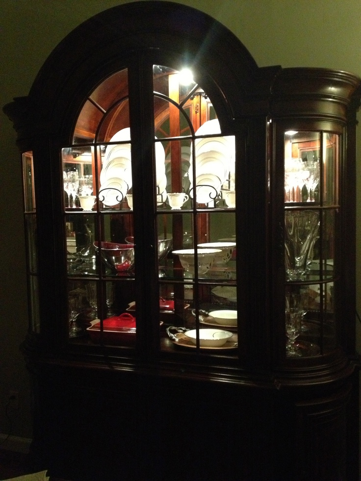 My China Cabinet Display Decorating Dining Room