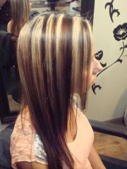 brown hair with red lowlights