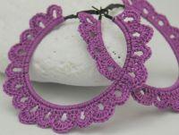 Crochet hoop earrings - Crochet jewelry - Big earrings ...