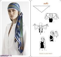 How To Tie A Scarf - Herms Scarf Knotting Cards Vol.4 ...