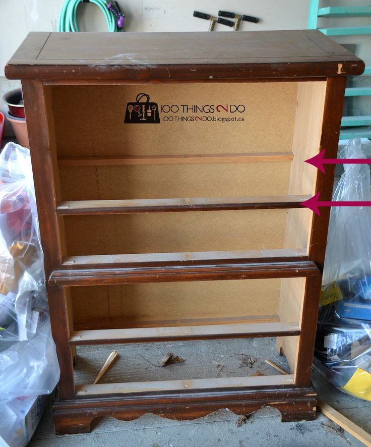 Dresser turned storage console  Dresser and Arrow