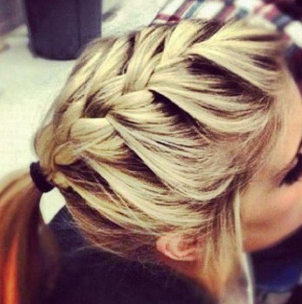 Cute French braided ponytail Love  Hair  Pinterest