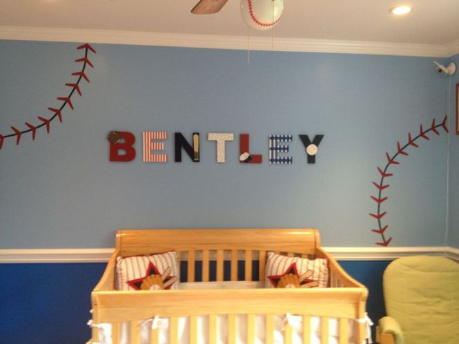 Nursery Baseball Decal Decor Red And By Angelbabyvinyl 30 00 Little Boys Roomsboy