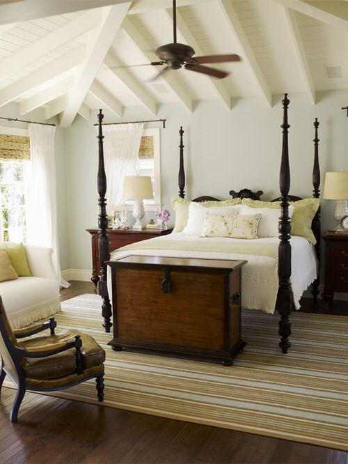 Colonial Bedroom Rustic New England Design