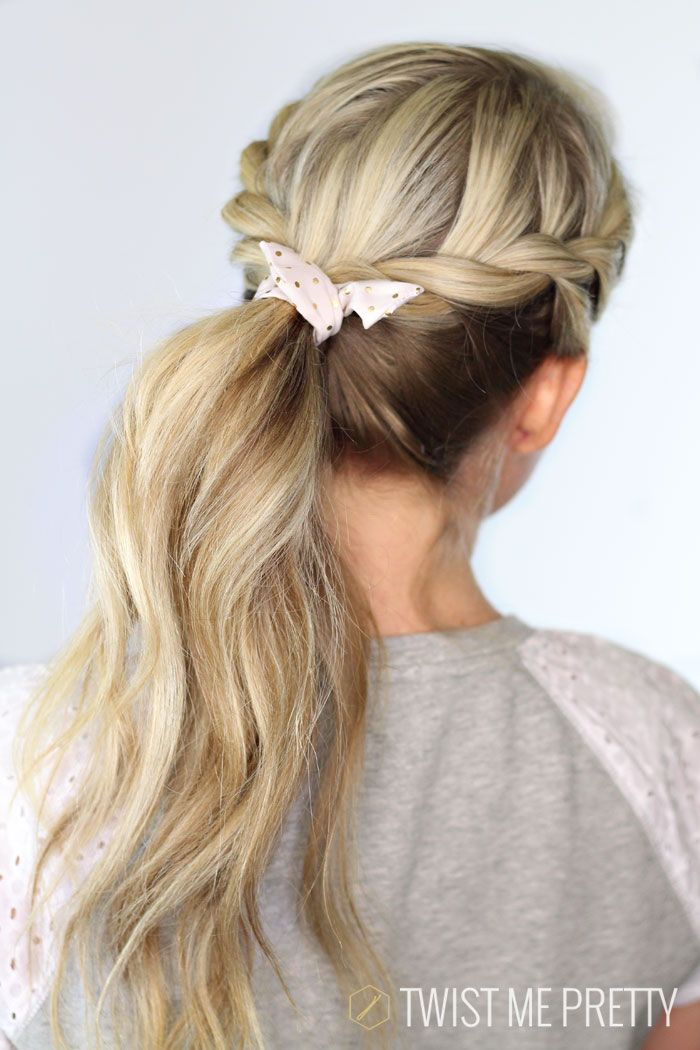 25 Best Ideas About Twisted Ponytail On Pinterest Easy Hair Up