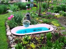 Repurposed tub. | Small Garden Ponds | Pinterest | Gardens ...
