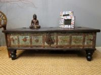 Boho Chic Green Coffee Table Trunk - eclectic - coffee ...