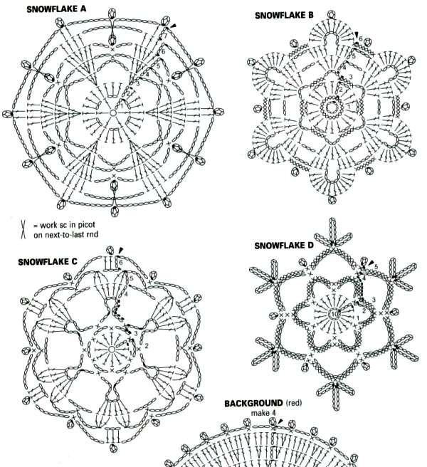 1000+ images about CROCHET STAR-SNOWFLAKE on Pinterest