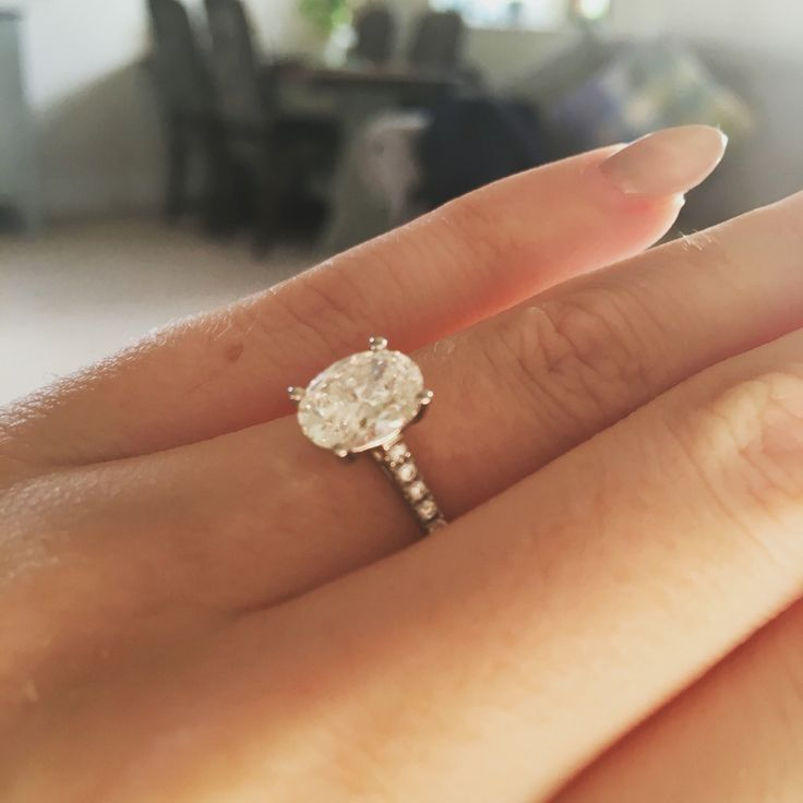 My gorgeous 14 oval cut engagement ring  Put a ring on