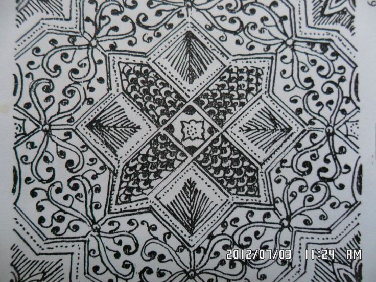 125 Classical batik floral motif Ceplok Kelan Kelan