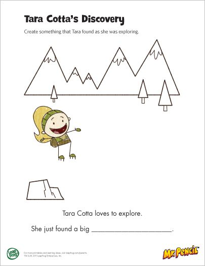 Mr. Pencil Printable: Tara Cotta's Discovery...a printable