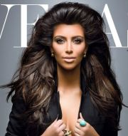 big teased hair kim kardashian