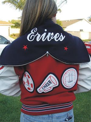 CHEER CHEERLEADER Varsity JACKET Sports Chenille Letterman