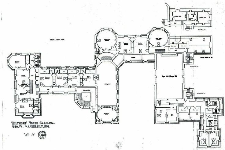 Plan of the third floor of the Biltmore house  Biltmore