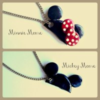 Mickey and Minnie Mouse Hat Necklace Pendants. | Mickey ...