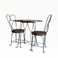 Vintage Ice Cream Parlor Table and Chair Set - Wrought ...