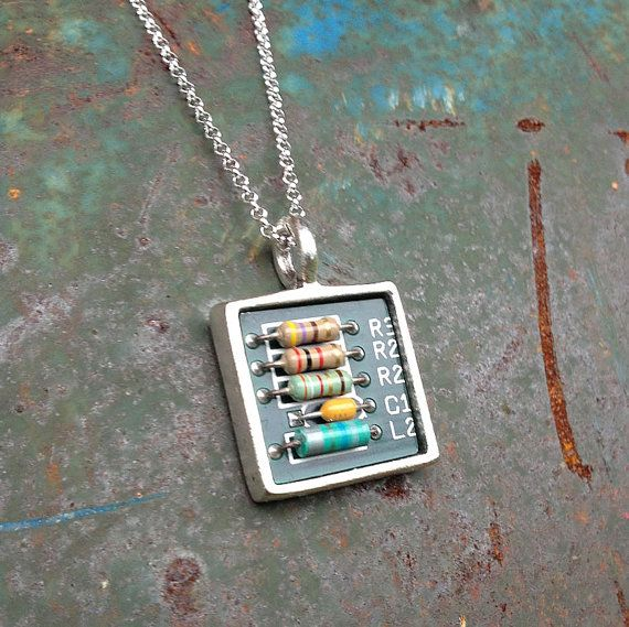 Circuit Board Glass Pendant Photo Glass Necklace Glass Keychain