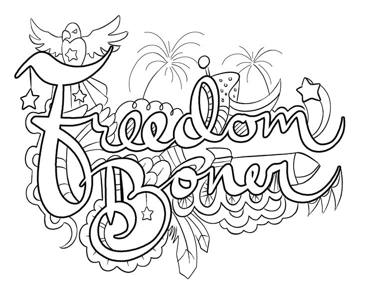 Printable Freedom Coloring Pages. Printable. Best Free