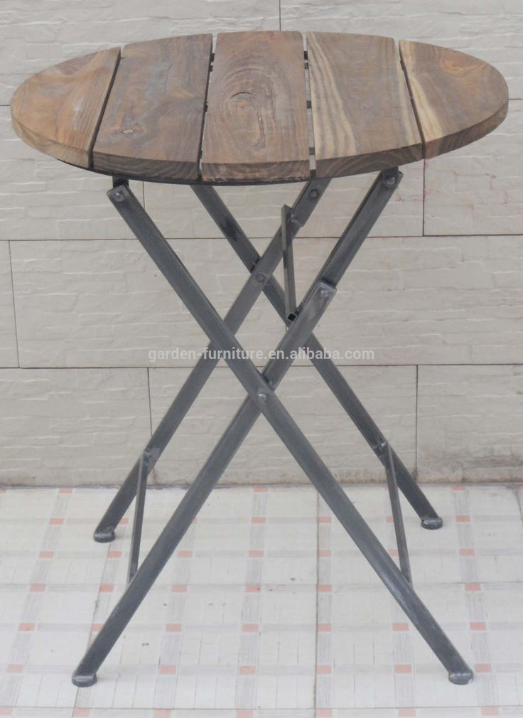 bar furniture small round table  antique Metal wood