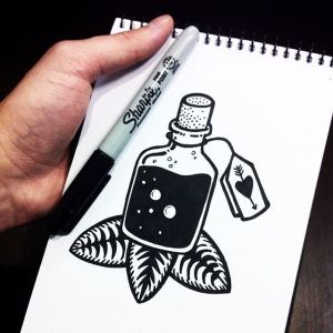 drawings sharpie doodles easy marker draw designs sketch drawing doodle bottle tattoo pencil ink tattoos sharpies anime google pen pablo