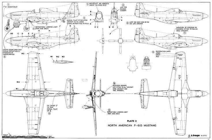 Schematic for P-51 D Mustang #wwii #airplane #aviation