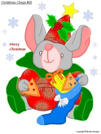 FREE Printable Christmas Cling Templates - Noella Designs ...