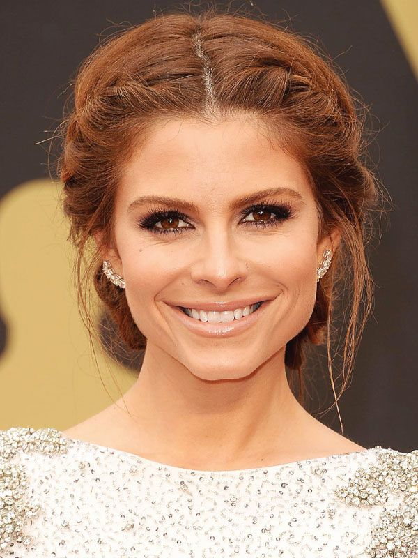 25 Best Ideas About Middle Part Updo On Pinterest Celebrity