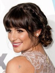 ideas bangs updo